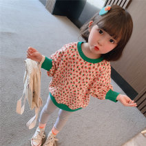 Sweater / sweater Other / other Light gray, picture color female 90cm,100cm,110cm,120cm,130cm spring and autumn nothing Korean version Socket routine There are models in the real shooting cotton Leopard Print Cotton liner