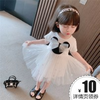 Dress White, pink female Other / other 90cm,100cm,110cm,120cm,130cm Other 100% summer princess Short sleeve Solid color cotton Pleats 8 years old, 12 months old, 3 years old, 6 years old, 18 months old, 9 months old, 6 months old, 2 years old, 5 years old, 4 years old, 7 years old Chinese Mainland