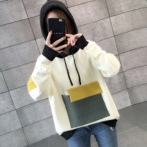 sweater Winter of 2018 S M L XL Long sleeves Socket singleton  Regular other 95% and above Hood thickening commute routine Straight cylinder Regular wool Keep warm and warm You've got to go Other 100% Pure e-commerce (online only)