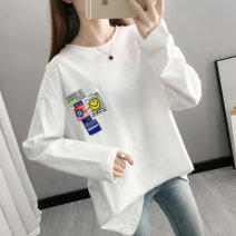 T-shirt White black S M L XL Spring 2021 Long sleeves Crew neck easy Regular routine commute other 96% and above 18-24 years old Korean version originality Cartoon animation You've got to go N21180 printing Other 100% Pure e-commerce (online only)
