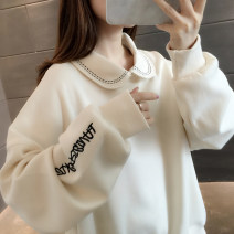 Sweater / sweater Autumn 2020 Purple beibai blue S M L XL Long sleeves routine Socket singleton  routine square neck easy commute routine letter 96% and above You've got to go Korean version other A06211 Other 100%