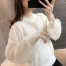 Wool knitwear Spring 2021 S M L XL Khaki white black Long sleeves singleton  Socket other More than 95% Regular routine commute easy routine Solid color Socket Korean version A06840 18-24 years old You've got to go Splicing Other 100% Pure e-commerce (online only)