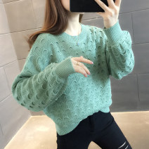 sweater Autumn 2020 S M L XL Beibai Fuchsia dark purple green yellow blue Long sleeves Socket singleton  Regular other 95% and above Crew neck Regular commute routine Solid color Straight cylinder Regular wool Keep warm and warm You've got to go A06126 Other 100% Pure e-commerce (online only)
