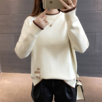 sweater Autumn 2020 S M L XL Long sleeves Socket singleton  Regular other 95% and above Half high collar Regular routine Solid color Straight cylinder Regular wool Keep warm and warm 18-24 years old You've got to go Splicing Other 100% Pure e-commerce (online only)