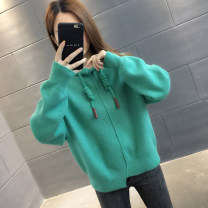 Sweater / sweater Autumn of 2019 Green yellow orange pink beibai black S M L XL Long sleeves routine Socket singleton  routine Hood easy commute routine Solid color 96% and above You've got to go Korean version other A03310 Other 100%
