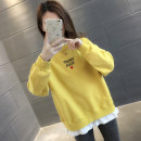 Sweater / sweater Spring of 2019 S M L XL Long sleeves routine Socket Fake two pieces routine Crew neck easy commute routine letter 96% and above You've got to go Korean version other Other 100% Pure e-commerce (online only)