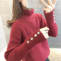 sweater Winter 2020 S M L XL Beibai red pink black grey Long sleeves Socket singleton  Regular other 95% and above High collar thickening commute routine Straight cylinder Regular wool Keep warm and warm You've got to go A06754 Other 100% Pure e-commerce (online only)
