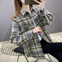shirt khaki S M L XL Spring 2021 other 96% and above Long sleeves commute Regular Polo collar Single row multi button routine lattice 18-24 years old Straight cylinder You've got to go Korean version J19315 Button Other 100% Pure e-commerce (online only)