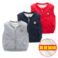 Vest neutral Grey, Navy, red Other / other spring and autumn Plush No model zipper leisure time cotton Solid color Cotton 100% Class B Intradermal bile duct