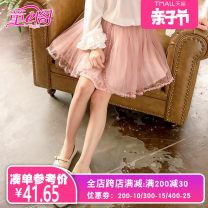 skirt Gray (focus on store priority delivery) pink (focus on store priority delivery) Tong e Pavilion female Polyester 100% spring and autumn Miniskirt Korean version Solid color other polyester fiber 98F467 Class A Spring of 2019