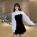 Dress Autumn 2020 Single white shirt, single suspender skirt Average size 30% and below