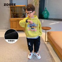 Sweater / sweater Zuo Xi male 110cm 120cm 130cm 140cm 150cm 160cm spring and autumn No detachable cap leisure time Socket routine There are models in the real shooting Cotton blended fabric other Cotton 67% polyester 33% Class B Spring 2021