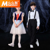 Children's performance clothes neutral Momo dog 10VEC_1620892817111 khnjv Flax 100% 12 months 18 months 2 years 3 years 4 years 5 years 6 years 7 years 8 years 9 years 10 years 11 years 12 years 13 years 14 years 3 months 6 months 9 months Spring 2021 Women's long sleeve men's short sleeve