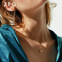 Necklace Titanium steel 51-100 yuan ZENGLIU Fashionable and versatile brand new Japan and South Korea female goods in stock yes Fresh out of the oven 21cm (inclusive) - 50cm (inclusive) no Below 10 cm other Titanium steel Butterfly / Dragonfly / insect Water wave chain ZL35132 Summer of 2018 yes