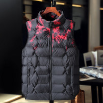 Vest / vest Youth fashion Others Other leisure Extra wide Cotton vest thick winter Detachable cap Large size 2020 tide Cotton vest Solid color zipper Straight hem Rayon Polyester 100% washing Zipper decoration Silk like cotton Polyester viscose Zipper bag Silk like cotton