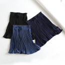 skirt Summer of 2019 34,36,38,40 Black, Navy, sky blue Short skirt High waist