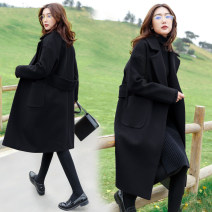 Women's large Winter 2020, autumn 2020 woolen coat singleton  commute moderate Cardigan Long sleeves Korean version polyester Collage 25-29 years old