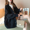 Women's large Winter 2020, autumn 2020 3822 black, 3822 red, 3822 apricot Xl140-170kg, 2xl170-200kg, 3xl200-250kg, 4xl250-310kg sweater singleton  commute moderate Cardigan Korean version 25-29 years old