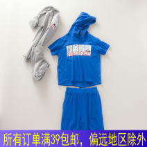 suit Other / other Sapphire blue, grey W2-4 110cm,120cm,130cm,140cm,150cm male Short sleeve + pants No model M0311-119 Four, five, six, seven, eight, nine, two, three