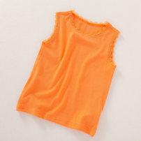 T-shirt orange Other / other 100cm,110cm,120cm,130cm,140cm,150cm female summer Short sleeve leisure time No model cotton Solid color L1230-15 Four, three, five, six, seven, eight, nine, ten, eleven, twelve, thirteen, fourteen
