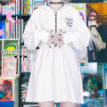 Sweater / sweater Winter 2020 White, black M, l Long sleeves Medium length singleton  Hood easy routine Solid color 18-24 years old printing cotton zipper