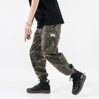 Casual pants Youth epidemic ArmyGreen Other /other 16 points before 16 orders, spot on the day to send M L XL 2XL 3XL conventional Micro-bomb Other leisure Loose trousers two thousand and seventeen tide four seasons youth Middle waist Feet Hanbu Old Pocket decoration Harem pants Camo cotton cotton