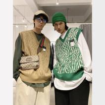 T-shirt / sweater MASON&PRINCE Youth fashion Grey, khaki, green S=1,M=2,L=3,XL=4 routine Socket V-neck Sleeveless spring and autumn easy 2020 teenagers