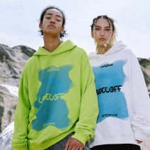 Sweater Youth fashion Ovdy Black, fluorescent green, white S,XL,L,M Abstract pattern Socket routine Hood winter easy Travel? teenagers Simplicity in Europe and America other printing No iron treatment Side seam pocket