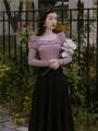 Fashion suit Autumn 2020 S,M,L,XL Purple knitting + black skirt, black knitting + black skirt 18-25 years old