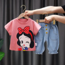 suit Yibailido White snow white summer suit pink snow white summer suit 80cm 90cm 100cm 110cm 120cm female summer Korean version Short sleeve + pants 2 pieces routine No model Socket nothing Cartoon animation Cotton blended fabric children Expression of love eXaM24434 Summer 2021 Chinese Mainland