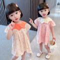 Dress Baby collar Polka Dot Dress - Pink Baby collar Polka Dot Dress - Apricot female Yibailido 80cm 90cm 100cm 110cm 120cm 130cm Other 100% summer Korean version Short sleeve Dot cotton A-line skirt YBL33103 Summer 2021