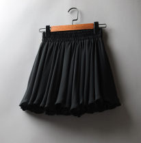 skirt Summer 2021 M, L Black, white Short skirt Versatile High waist A-line skirt Solid color Type A 25-29 years old 71% (inclusive) - 80% (inclusive) Chiffon Other / other polyester fiber fold 61G / m ^ 2 (including) - 80g / m ^ 2 (including)