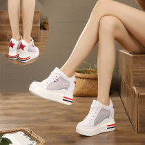 Low top shoes 34 35 36 37 38 39 Other / other Mesh white smaller mesh pink smaller mesh black smaller 8cm white smaller 8cm silver smaller 10cm white smaller 10cm black smaller fashion star red versatile star blue white red black Round head Internal elevation cloth Deep mouth cloth Spring of 2018