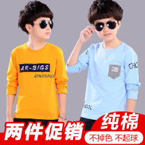 T-shirt Other / other The recommended height for Size 110 is 100-110cm, for Size 120 it is 110-120cm, for Size 130 it is 120-130cm, for size 140 it is 130-140cm, for size 150 it is 140-150cm, for size 160 it is 150-160cm, and for size 170 it is 160-165cm male spring and autumn Long sleeves Crew neck
