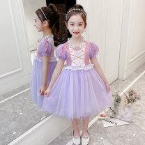 Dress female June.X 110cm 120cm 130cm 140cm 150cm 160cm Other 100% summer princess Short sleeve Solid color blending Princess Dress Y994 Class B Summer 2021 3 years old, 4 years old, 5 years old, 6 years old, 7 years old, 8 years old, 9 years old, 10 years old, 11 years old Chinese Mainland