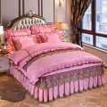 Bedding Set / four piece set / multi piece set Polyester (polyester fiber) Quilting Solid color 128x68 Ruo Tong Polyester (polyester fiber) 4 pieces 40 Bed skirt Qualified products Gong Tingfeng other Reactive Print  Thermal storage velvet