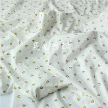 Fabric / fabric / handmade DIY fabric cotton 40 Cut Pink crown / half meter price, 40 cut yellow crown / half meter price Loose shear piece Cartoon animation jacquard weave clothing Japan and South Korea 100% Zhejiang Province Shaoxing Chinese Mainland