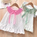 skirt 90cm,100cm,110cm,120cm Pink polka dot skirt, green polka dot skirt Other / other female Cotton 95% polypropylene fiber 5%