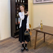 Women's large Spring 2021 White sunscreen clothes, suspender skirt S [80-100 Jin], m [100-110 Jin], l [110-120 Jin], XL [120-135 Jin], 2XL [135-150 Jin], 3XL [150-165 Jin], 4XL [165-175 Jin], 5XL [175-200 Jin] Dress Sweet Solid color