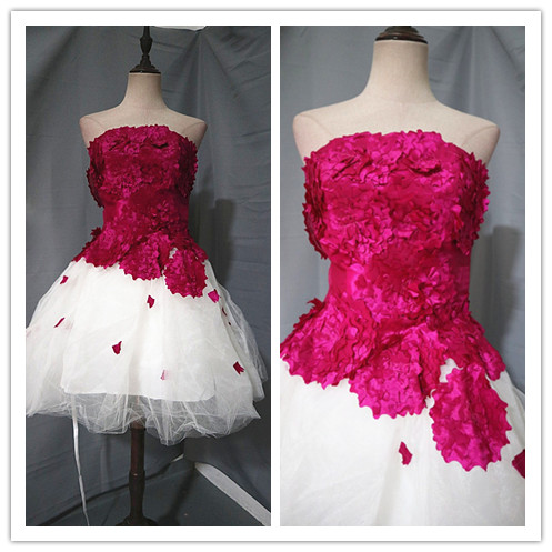 Dress / evening wear Wedding adult party company annual meeting performance S rose red Netting