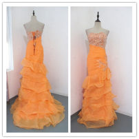 Dress / evening wear Wedding adult party company annual meeting performance XL Orange Netting