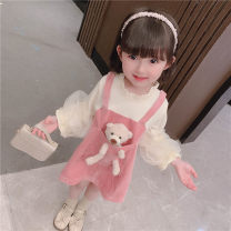 Dress Pink Bear dress female Other / other 90cm,100cm,110cm,120cm,130cm Other 100% spring and autumn Korean version Long sleeves Solid color Cotton blended fabric A-line skirt Class B 7 years, 12 months, 3 years, 3 months, 6 years, 18 months, 9 months, 6 months, 2 years, 5 years, 4 years Huzhou City