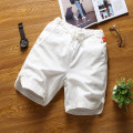 Casual pants Others Youth fashion White, black, blue, gray, dark green M,L,XL,2XL,3XL,4XL,5XL thin Shorts (up to knee) Other leisure easy No bullet 1211-K25-P15 summer youth Youthful vigor 2018 Medium low back Straight cylinder Beach pants No iron treatment Solid color Cotton and hemp Non brand
