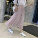 skirt Summer of 2019 Mid length dress Versatile High waist Fairy Dress K9 Snow lotus Pure e-commerce (online only)