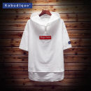Sweater Youth fashion Kabudlqao / Cappuccino Black and white M L XL 2XL XXXL XXXXL XXXXXL Solid color Socket Thin money Hood summer Straight cylinder leisure time Large size Japanese Retro raglan sleeve Cotton polyester Cotton 70% polyester 30% cotton Cloth decoration No iron treatment Summer of 2018