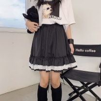 skirt Summer 2021 Average size black Short skirt commute High waist other other 18-24 years old 51% (inclusive) - 70% (inclusive) Sophie's Chaoren Museum Korean version