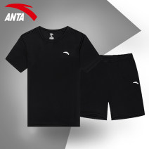 Sports suit Anta male 165(S) 170(M) 175(L) 180(XL) 185(2XL) 190(3XL) Short sleeve Crew neck shorts Socket Spring 2020 Sports & Leisure Sports life polyester fiber yes