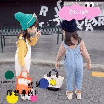 trousers Other / other neutral 80cm,90cm,100cm,110cm,120cm White suspenders, blue suspenders spring and autumn trousers Korean version There are models in the real shooting rompers Leather belt middle-waisted Denim Don't open the crotch Class B nothing 11, 13