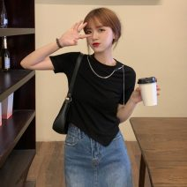T-shirt Summer 2021 Short sleeve Crew neck Self cultivation have cash less than that is registered in the accounts routine commute other 30% and below 18-24 years old Korean version Solid color Other / other 0515Y Gray, white, black Average size