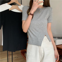 T-shirt Gray, white, black Average size Spring 2021 Short sleeve Crew neck Self cultivation have cash less than that is registered in the accounts commute other 30% and below 18-24 years old Korean version Other / other 0414L